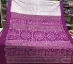 Exclusively Woven Aanchal And Blouse Ikat work Silk Saree