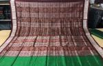 Green Maroon Traditional Bomkai Silk Saree with Blouse Piece