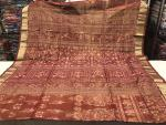 Exclusively Woven Animals Tribal And Traditional Motifs All Over Ikat Tissue Silk Saree with Blouse