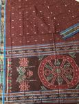 Ikat Weave Border and Aanchal Berhampur Cotton Saree Of Odisha without Blouse