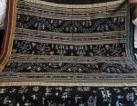 Ganga Jamuna Border Exclusively Woven Tribal Motifs Ikat Silk Saree with Blouse Piece
