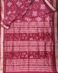 Exclusively woven Village Theme Aanchal Tribal Motifs Pasapalli Silk Saree with Blouse Piece