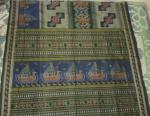 Fine Cotton Boat theme ikat work Saree without Blouse piece