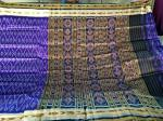 Blue n black all over ikat Khandua silk saree