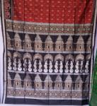 Master Weaver s Creation Temple Motif Silk Saree with Blouse Piece