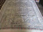 Tribal Work Hand Painting Silk Saree with Blouse piece