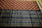 Maroon and Blue Traditional Pasapalli Silk Saree with Blouse Piece