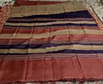 Muli Color Half n Half Tassar Silk Saree with Blouse Piece