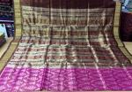 Exclusively woven Tribal Ikat Tissue silk saree with Blouse Piece