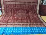 Pasapalli and ikat Hand woven Silk saree with Blouse Piece