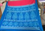 Master weaver s Tree of life Theme Aanchal with all over ikat work Blouse Piece Silk saree