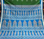 Exclusively woven by Master weaver Temple and dancer motifs Bomkai Silk Saree with blouse Piece