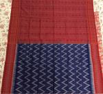 Geometric body Traditional Aanchal Sambalpuri Cotton Ikat Saree with Blouse piece