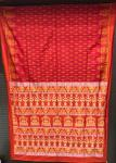 National Award winner weaver S Laxmi Pooja Theme Silk Saree with Blouse Piece