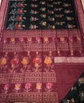 Exclusively woven beautiful Rose Motifs Cotton Ikat Saree with Blouse Piece