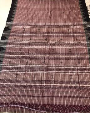 Natural Dyed Cotton Tasar Mix Kotpad Handloom Saree