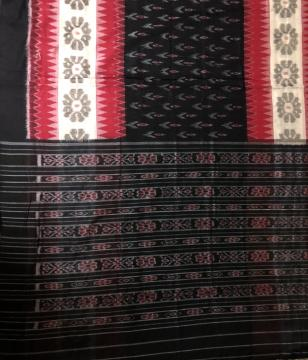 Beautiful All Over Ikat Cotton Orissa Handloom Saree without Blouse Piece