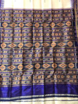 Traditional Khandua Silk Saree without Blouse Piece