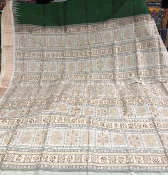 Hand woven Traditional Bomkai Silk Saree With Blouse Piece