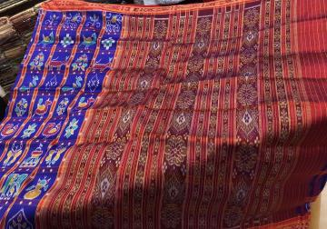 Most Awaited Nabakoti Khandua Silk Saree without Blouse Piece