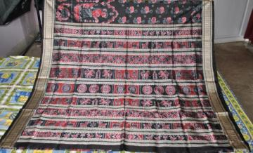 Orissa handloom Ikat work Dancer design Saree Sari