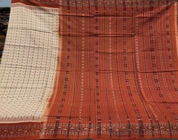 All Over Ikat Cotton Sambalpuri Saree with Blouse Piece