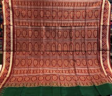 Pasapalli Border Bomkai Silk Saree with Blouse piece