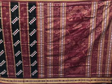 Perfect Combination of Pasaplli and Traditional Ikat Motifs Cotton Saree with Blouse Piece