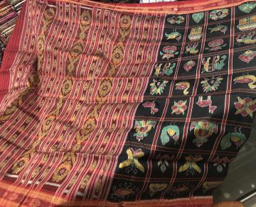 Traditional Nabakothi Khandual Silk Saree without Blouse Piece