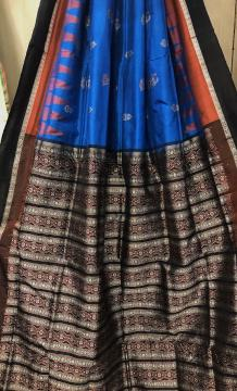 Beautiful Borders Doll And Traditional Motifs Bomkai Silk Saree with Blouse Piece