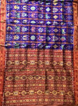 Exclusive and High Demand Khandua Nabakothi Saree in Silk without Blouse Piece