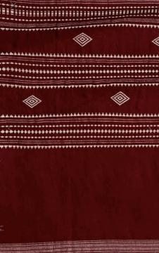 Cotton Kotpad Saree In maroon color