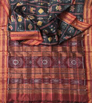 Traditional Nabakothi Khandua Silk Saree without Blouse Piece