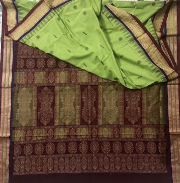 Traditional Bomkai Weave Cotton Saree with Blouse Piece