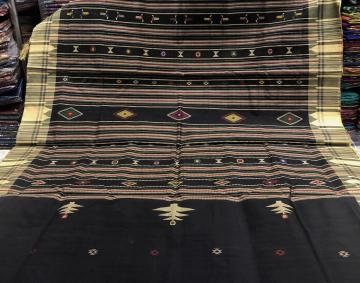 Firbi and Tribal Bomkai Inspired Exclusively woven Tasar Silk Saree with Blouse Piece