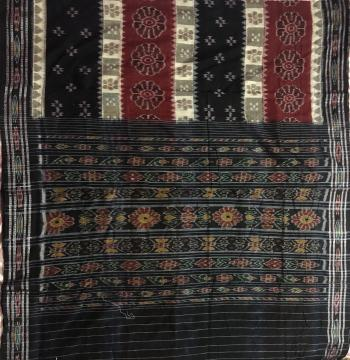 Hand Woven Ikat work Cotton Saree without Blouse Piece
