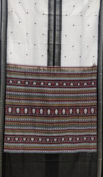 Middle Border Cotton Dongria Saree with Blouse Piece