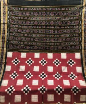 Small check boxes Pasapalli Cotton Saree without Blouse Piece