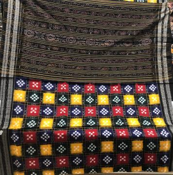 Multicolour kothis Pasapalli Cotton Saree without Blouse piece