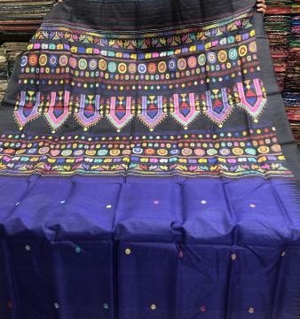 Exclusively Woven Traditional Dolabedi Tasar Saree with Blouse Piece