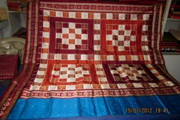 Orissa Handloom Pasapalli border Saree Sari in Copper-Sulphate