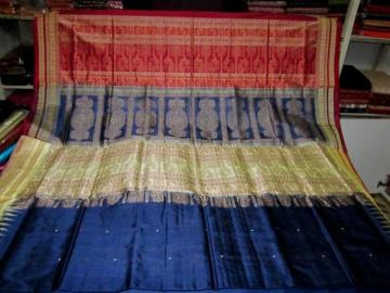 Orissa Handloom double border Bomkai Saree Sari
