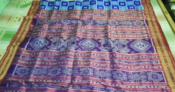 Pasapalli work body Traditional Aanchal Khandua Silk Saree without Blouse Piece