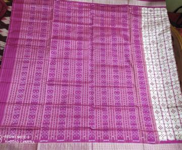 Traditional double Ikat Pasapalli Silk Saree with blouse piece