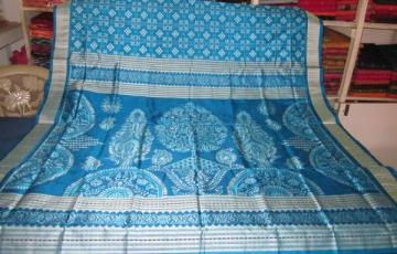 Pasapalli Saree with a beautiful ikat work aanchal