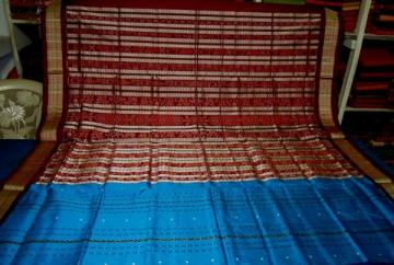 Odisha Handloom Traditional ikat aanchal Saree Sari