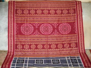 Odisha Handloom Wheel Motif Saree Sari