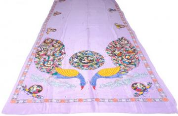 Ganjapa over peacock design Khadi Silk Saree