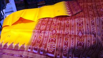 Yellow Khandua Saree