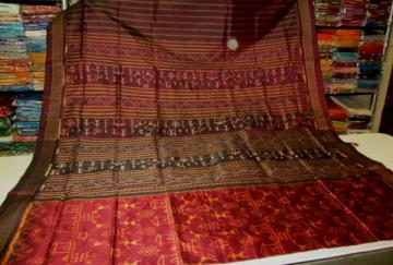Tribal Art in Ikat work Odisha Handloom Saree